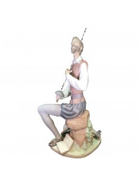 Figura Porcelana LLadro D. Quijote Declamando