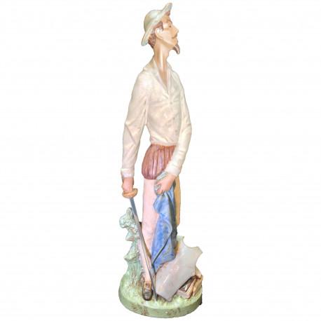 Figura Porcelana LLadro Don Quijote Erguido
